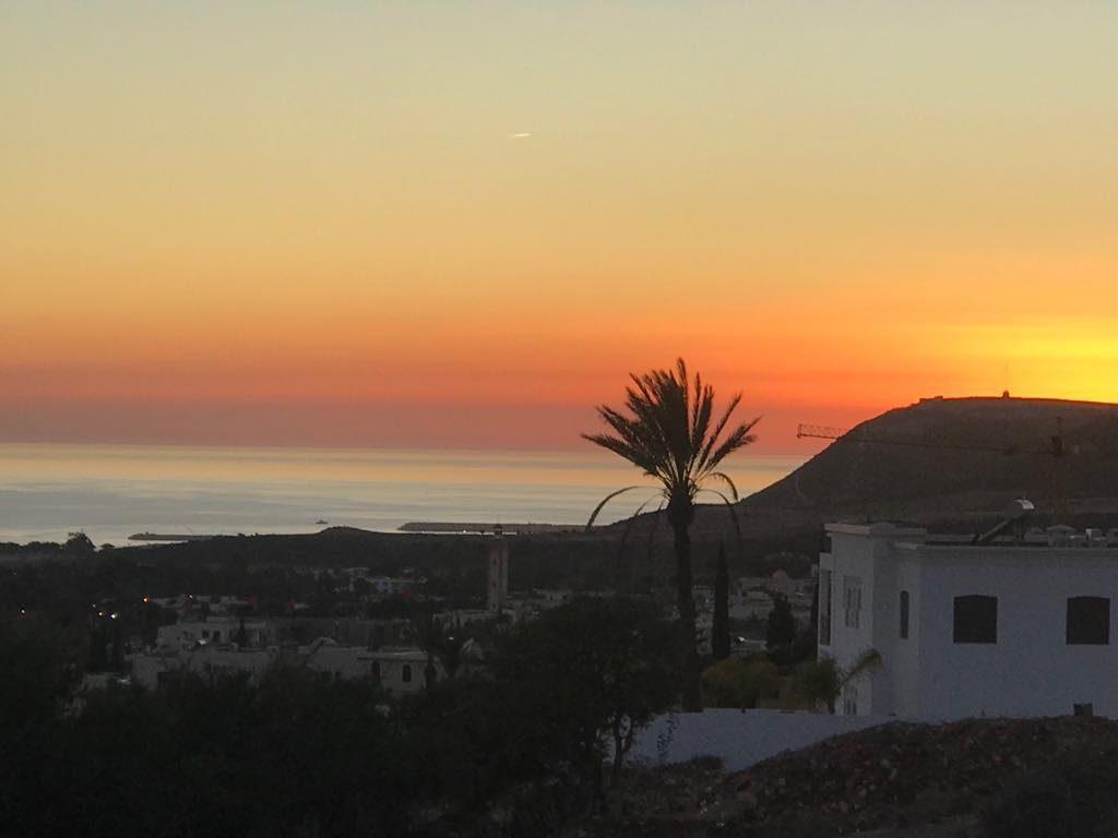 zachód słonca w Agadirze